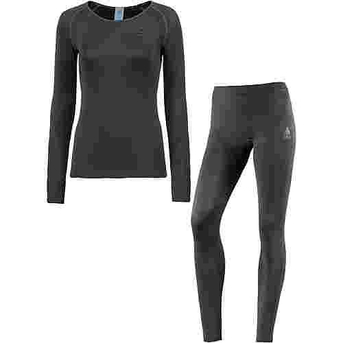 Odlo Wäscheset Damen grey-melange black