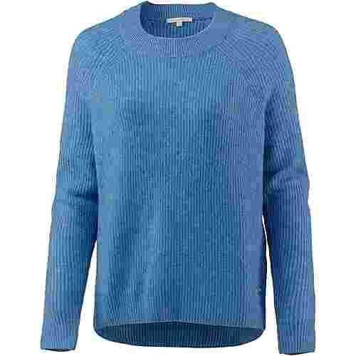 TOM TAILOR Strickpullover Damen brilliant blue melange
