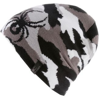 Spyder Beanie Kinder alloy-black-white