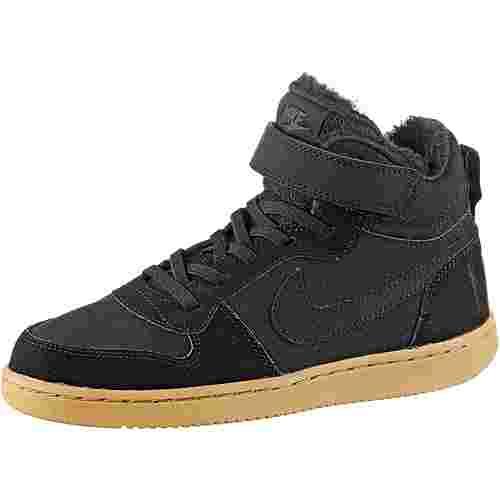 Nike Court Borogh Sneaker Kinder black-black-gum lt brown