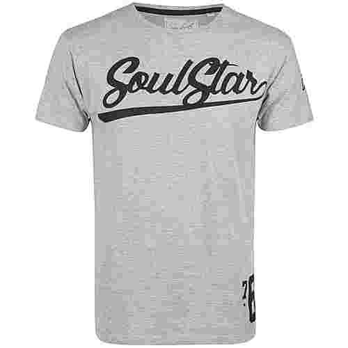 Soulstar Printshirt Herren grau melange