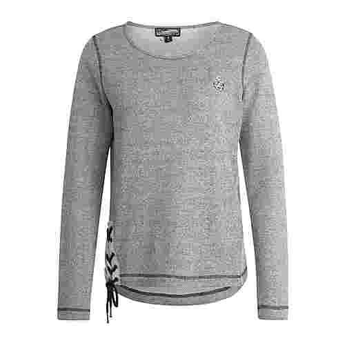 DreiMaster Sweatshirt Damen schwarz melange