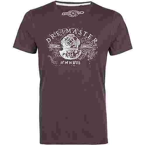 DreiMaster Printshirt Herren schlamm