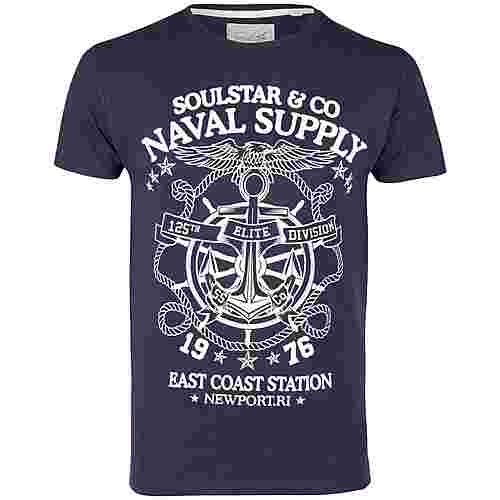 Soulstar Printshirt Herren marine
