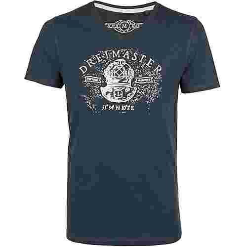 DreiMaster Printshirt Herren flaschengrün