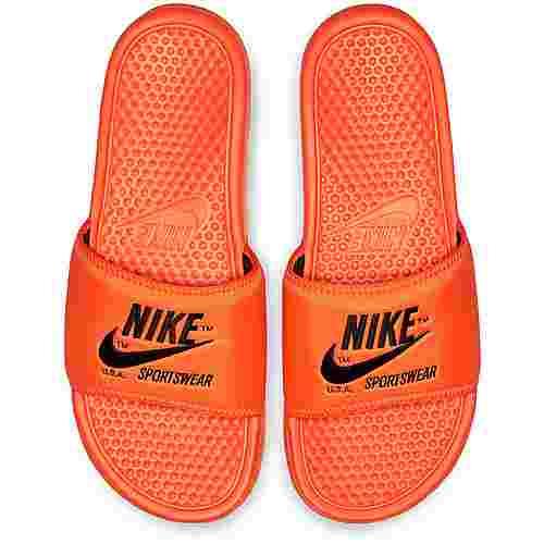 Nike Slide Benassi JDI TXT SE Badelatschen Herren total orange-black-total orange