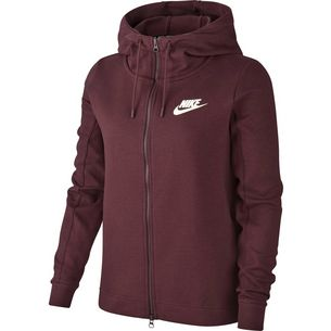 Nike AV15 Sweatjacke Damen burgundy crush/sail