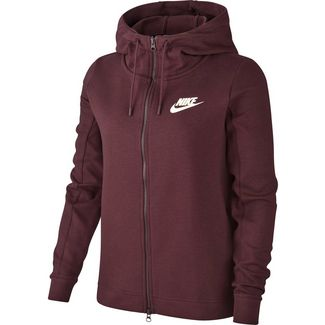 Nike AV15 Sweatjacke Damen burgundy crush/sail