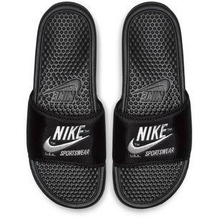 Nike Slide Benassi JDI TXT SE Sandalen Herren black-white