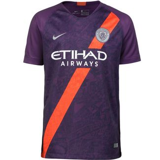 Nike Manchester City 18/19 CL Fußballtrikot Kinder night purple-reflective silv