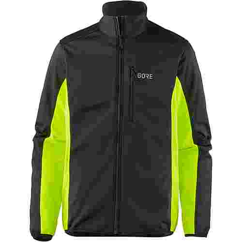 GORE® WEAR C3 Gore Windstopper Thermo Jacket Funktionsjacke Herren black/neon yellow