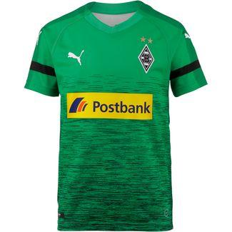 PUMA Borussia Mönchengladbach 18/19 Ausweich Fußballtrikot Kinder bright green-puma black