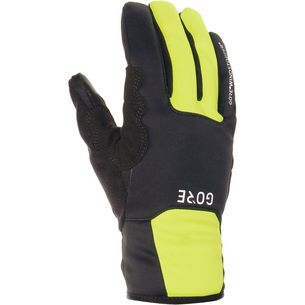 GORE® WEAR M Gore Windstopper Thermo Gloves Fahrradhandschuhe black/neon yellow