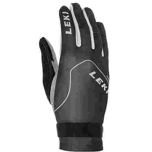 LEKI Nordic Slope Fingerhandschuhe schwarz-weiß-graphit