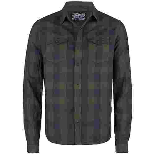 Petrol Industries Langarmhemd Herren Dark Forest