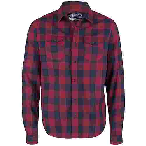 Petrol Industries Langarmhemd Herren Scar Red