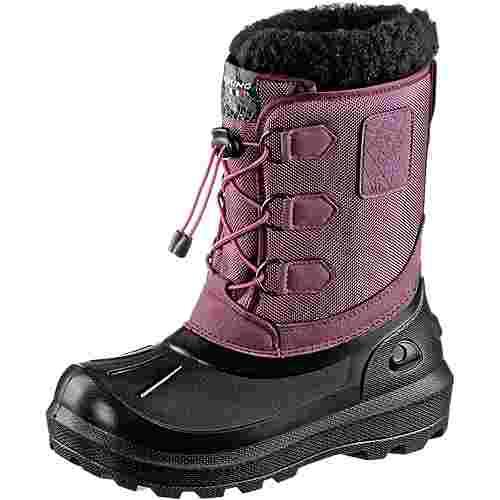 Viking Istind Winterschuhe Kinder dark pink-black