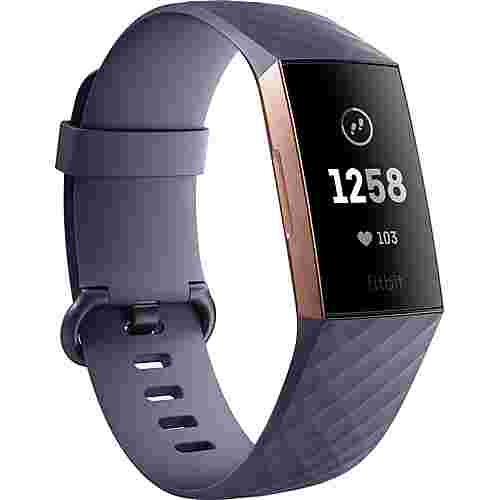 FitBit Charge 3 Fitness Tracker blue grey-rose gold