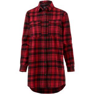 Tommy Jeans Check Shirt Langarmhemd Damen dark-red-check