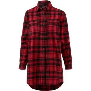 Tommy Jeans Check Shirt Langarmhemd Damen dark-red-check