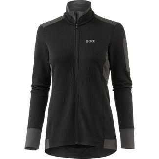 GORE® WEAR Thermo Laufshirt Damen black-terra grey