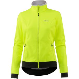 GORE® WEAR C3 Gore Windstopper Thermo Jacket Fahrradjacke Damen neon yellow/black