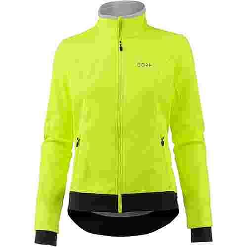 GORE® WEAR C3 Gore Windstopper Thermo Jacket Fahrradjacke Damen neon yellow/black