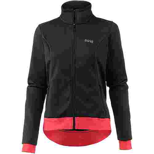 GORE® WEAR C3 Gore Windstopper Thermo Jacket Fahrradjacke Damen black/hibiscus pink
