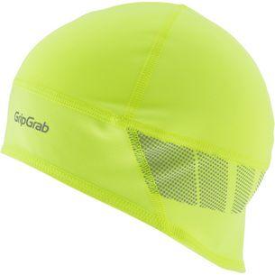 GripGrab Windproof Hi-Vis Skull Cap Cap fluo yellow