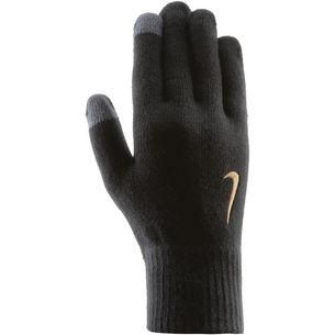 Nike Knitted Tech and Grip Gloves Fingerhandschuhe black-anthracite-metallic gold