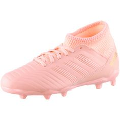 adidas PREDATOR 18.3 FG J Fußballschuhe Kinder clear orange