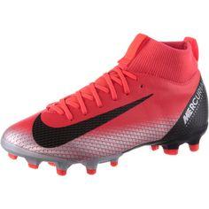 Nike MERCURIAL JR SFLY 6 ACADEMY GS CR7 FG/MG Fußballschuhe Kinder brt crimson-black-chrome-dk grey