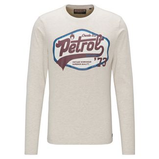 Petrol Industries Langarmshirt Herren Antique White Melee