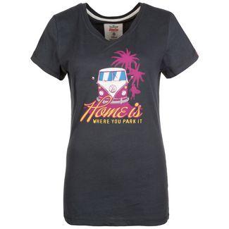 VAN ONE Home T-Shirt Damen schwarz