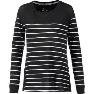 O'NEILL Langarmshirt Damen black aop w- white