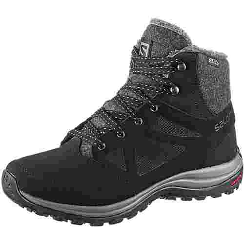 Salomon Ellipse Freeze CS WP Winterschuhe Damen black-phantom-beach glass