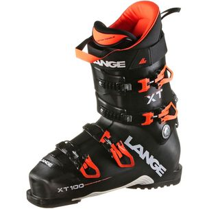 LANGE XT 100 Skischuhe Herren black orange fluo