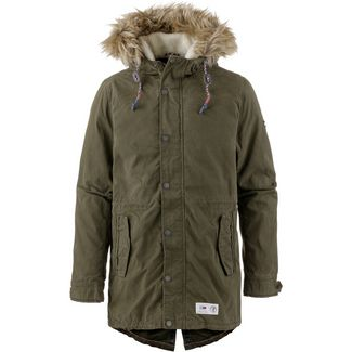 Tommy Jeans Lined Parka Herren forest night