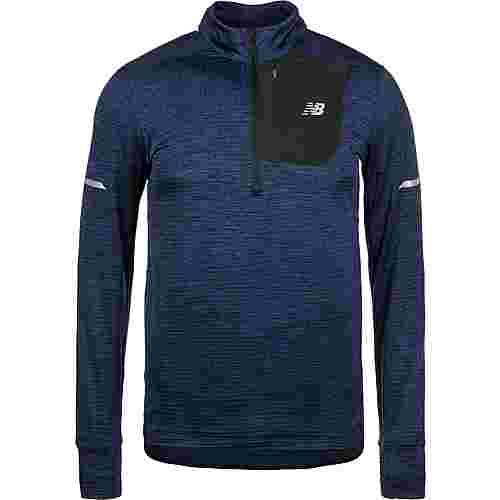 NEW BALANCE Heat Quarter-Zip Langarmshirt Herren blau