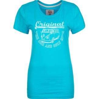 VAN ONE Original Ride T-Shirt Damen blau