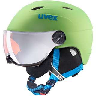 Uvex junior visor pro Skihelm Kinder applegreen mat