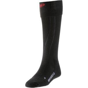 Lenz set of heat sock 4.0 toe cap + rcB 1200 Skisocken Schwarz/Rot