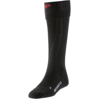 Lenz set of heat sock 4.0 toe cap + rcB 1200 Skisocken Schwarz/Rot