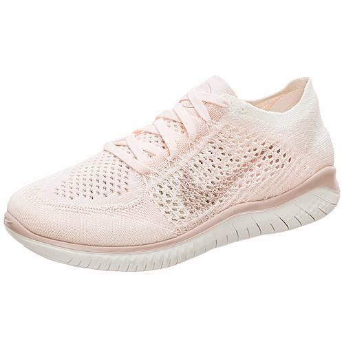 Nike Free RN Flyknit 2018 Laufschuhe Damen rosa weiß im