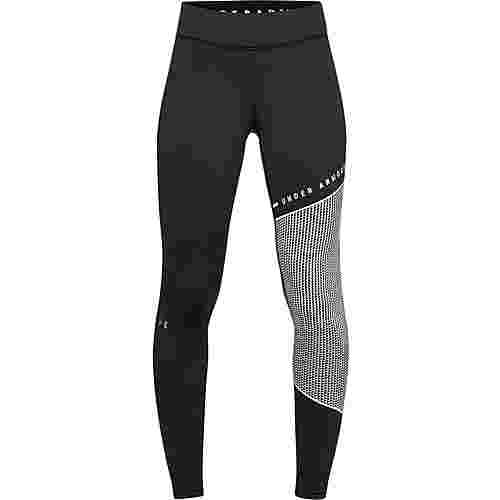 Under Armour Coldgear Armour Block Tights Damen black-white-metallic silver