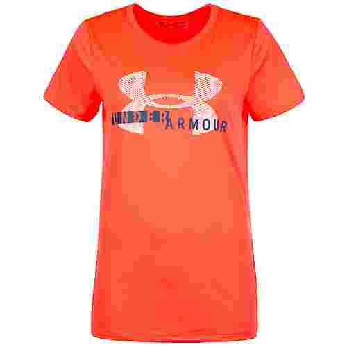 Under Armour HeatGear Tech Graphic Twist Funktionsshirt Damen orange