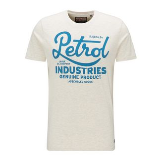 Petrol Industries Printshirt Herren Antique White Melee
