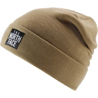 The North Face DOCK WORKER Beanie KELP TAN/TNF BLACK