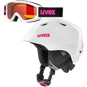 Uvex airwing 2 set Skihelm Kinder white pink
