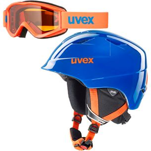 Uvex airwing 2 set Skihelm Kinder blue